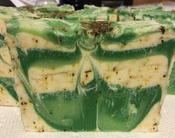 Soap- Handmade Rosemary and Eucalyptus with Avocado Oil and Cocoa Butter