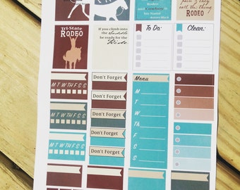 Rodeo planner stickers