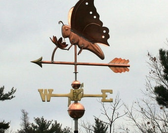 Copper Butterfly Weathervane BH-WS-382