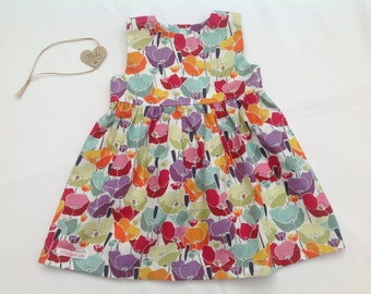 Baby Girl dress, girls dress, girls clothing, poppy dress, age 12/18 months, handmade, party dress, summer dress