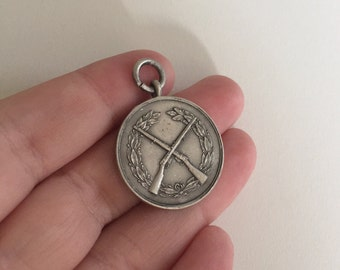 Antique 925 Sterling Silver War Medallion