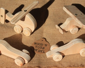 Ross minis - Handmade Wooden Mini Toy Cars, Helicopter, Plane