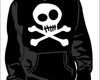 Skull sweatshirt.