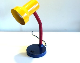 Multicolored desk lamp, 90 s, vintage