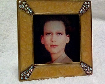 Jay Strongwater Swarovski Crystal Picture Frame