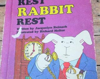 Rest Rabbit Rest-Sweet Pickle Book-Vintage Children's Book-Weekly reader book-Rabbit book-school book-1977
