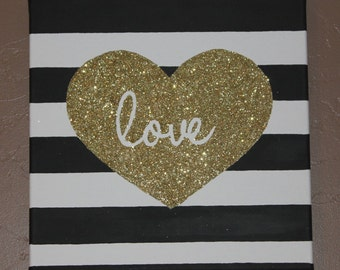 Glitter Love Canvas