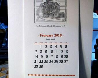 2016–2017 Letterpress Calendar