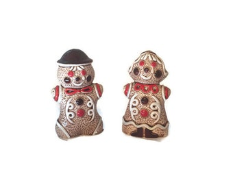 Gingerbread Salt and Pepper Shakers