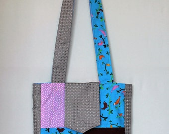 Patchwork Shoulder Bag - Small Birds