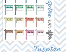 Rent Due Sticker Icons ~ Planner Stickers