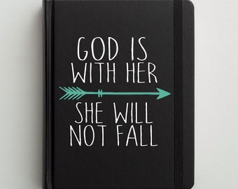 Bible Decal // Christian Decal // Journaling Bible Cover Decal // God Is With Her // Bible Decor // Wonderfully Made Creations