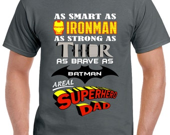 A Real Superhero Dad - Mens Funny T-Shirt Father's Day