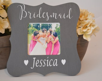 Bridesmaid picture frame  Custom picture frame  Custom bridesmaid picture frame  Wedding gift  Personalized picture frame  Bridal party gift