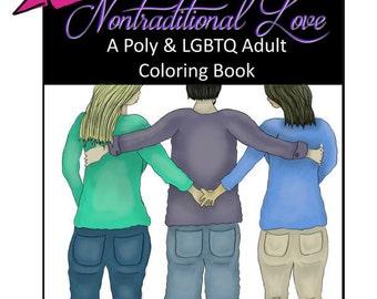 Printable Polyamory & LGBTQ Adult Coloring Book - Nontraditional Love