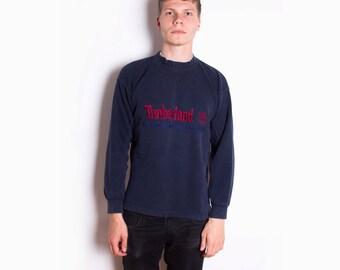 Vintage 90s Timberland Navy Blue USA Cotton Sweatshirt ID:3054