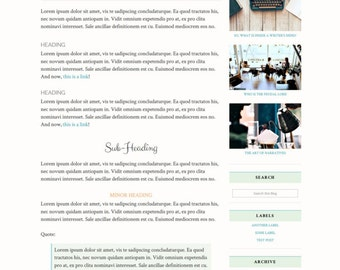 Premade Blogger Template Responsive Minimal Blogspot for Lifestyle, Fashion, Book, Travel, Food Blogger Free Installation - A Writer's Mind