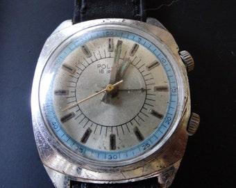 Poljot signal watch 1980s,Poljot alarm watch,soviet watches,soviet union watches, russian watches, USSR watches,vostok,poljot,slava,raketa