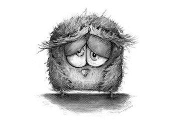 Owl Drawing (print)