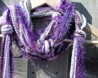 Purple Boho Scarf Trend