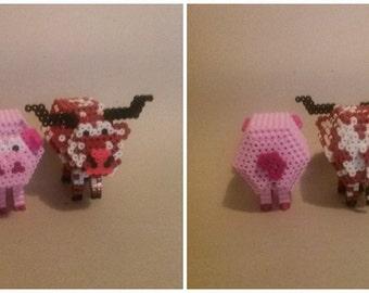 Perler Pig or Cow