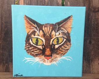 Cat Portrait with Glowing Eyes