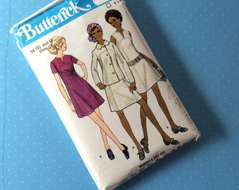 """Vintage Sewing Pattern - Butterick 5865 - Retro 1970's Dressmaking Pattern - Jacket Blazer Coat Sewing Pattern - Size 18 1/2 Bust 41"""" Sewing"""