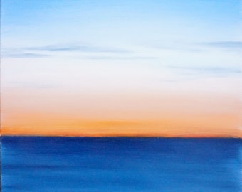 Abstract Seascape - Orange And Blue