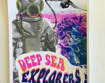 "Poster ""Deep Sea Explorers"""