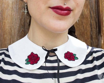 Rosa Rosae | Hand Embroidered Peter Pan Collar