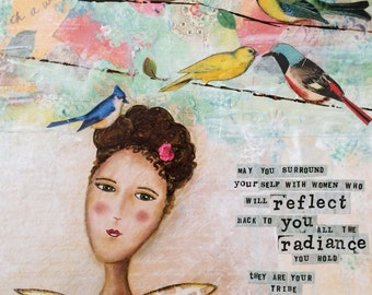 """Angel Print """"They are your Tribe"""" Uplifting, positive message"""