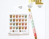 CLOSING SALE 40% OFF - 028 planner stickers : coffee (candy series)