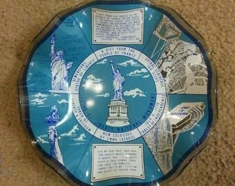 Vintage Statue of Liberty Souvenir Plate