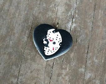 Friday the 13th Heart charm