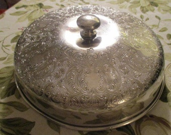 Vintage Silver Plate Dish Cover