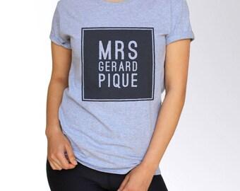 Gerard Pique T Shirt - Gray - S M L