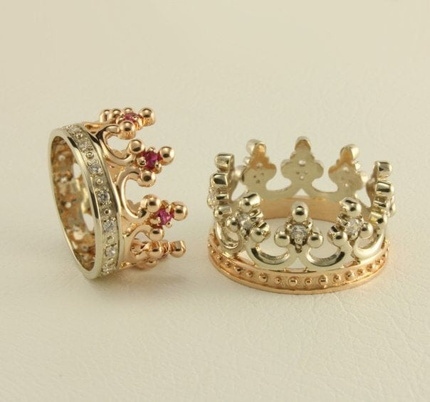 sale 10 off crown wedding ring set royal wedding rings women crown - Crown Wedding Ring