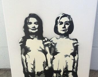 Hillary Clinton as The Grady Twins