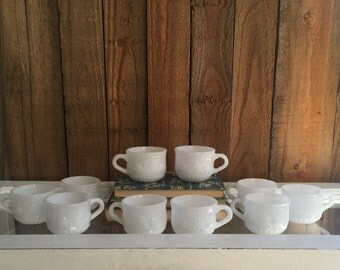 Milk Glass Punch Cups - Set of 10