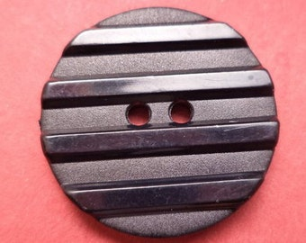 8 large black buttons 28mm (4449) knob black