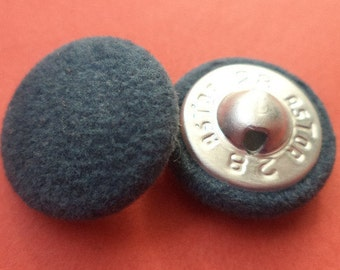 Fabric button buttons 10 FABRIC BUTTONS blue-18 mm (6043)
