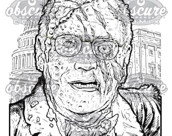 "Digital Zombie Coloring Page - DICK CHENEY - ""I've Never Felt Better"""