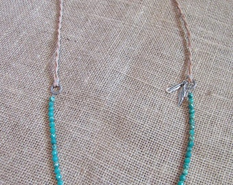 Emerald Sea Jasper Feather Necklace