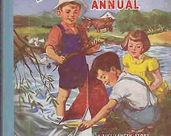 "Little Dots Playways Annual 1956.  Including a full length Enid Blyton story ""The Very Big Secret""."