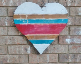 HEART SIGN, Wood Heart, Heart Decor, Heart Art, Wooden Heart, Wood Heart Sign, White Heart, Wedding Heart, Pallet Heart, Rustic Heart, Heart
