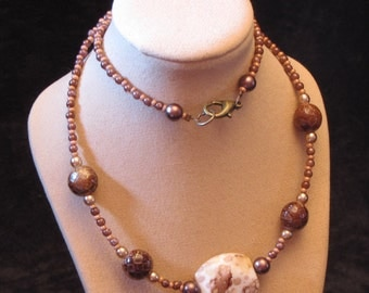 "18"" Beaded Necklace (Bronze - Brown) (PH23)"