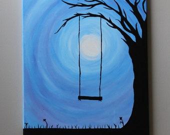 "Hanging Swing on Tree 20""x16"""