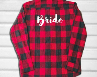 Bride Flannel Shirt - Wedding Flannel - Flannel Shirt - Graphic Flannel - Bride Flannel - Wedding shirt - Bride Shirt - Bridesmaid - Wedding