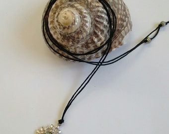 Vintage Paua Shell Sterling Silver Pendant