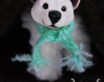 Polar bear stuffed handmade toy
